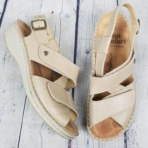 FINN COMFORT   Jersey leather comfort sandals